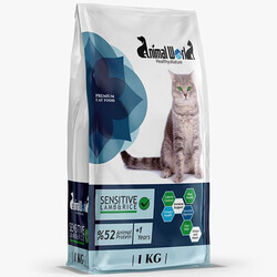 Animal World - Animal World Sensitive Kuzu Etli Hassas Kedi Maması 1 Kg