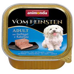 Animonda - Animonda 82658 Vom Feinsten Kümes Hayvanı Morina Balıklı Köpek Yaş Maması 150 Gr