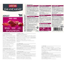 Animonda 82731 Gran Carno Sığır Eti ve Yürek Köpek Konservesi 400 Gr - Thumbnail