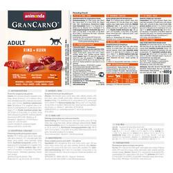 Animonda 82732 Gran Carno Sığır ve Tavuk Etli Köpek Konservesi 400 Gr - Thumbnail