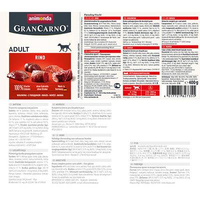 Animonda 82735 Gran Carno Sığır Etli Yetişkin Köpek Konservesi 400 Gr