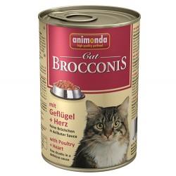 Animonda - Animonda 83377 Brocconis Tavuk Etli ve Yürekli Kedi Konservesi 400 Gr