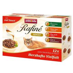 Animonda - Animonda 83803 Rafine Savoury Multipack Pouch Karışık Yaş Kedi Maması 100 Gr (12 Adet)