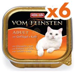 Animonda - Animonda Vom Feinsten Kümes Hayvanı ve Makarna Kedi Maması 100 Gr-6 Adetx100 Gr