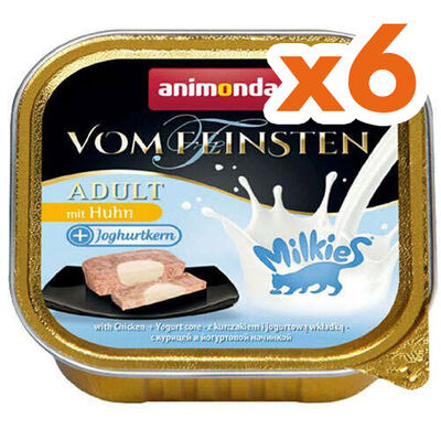 Animonda Milkies 83113 Vom Feinsten Tavuk Etli ve Yoğurt Kedi Yaş Maması 100 Gr - 6 Adet x 100 Gr