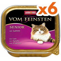 Animonda - Animonda Vom Feinsten Senior Kuzu Etli Yaşlı Kedi Maması 100 Gr-6 Adetx100 Gr