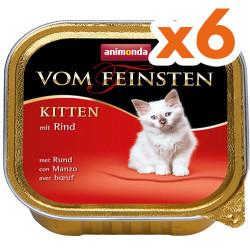 Animonda - Animonda Vom Feinsten Kitten Sığır Etli Kedi Maması 100 Gr+6 Adetx100 Gr