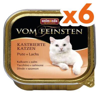 Animonda Vom Feinsten Hindi / Somon Kısırlaştırılmış Kedi Maması 100 Gr - 6 Adet x 100 Gr