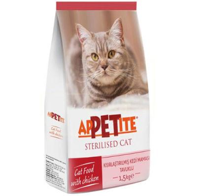 Appetite Sterilised Tavuk Etli Kısırlaştırılmış Kedi Maması 1,5 Kg