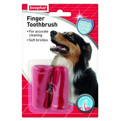 Beaphar 011327 Finger Tootbrush 2'li Parmak Diş Fırçası