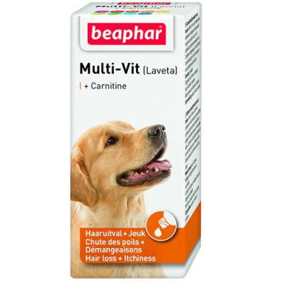 Beaphar 011429 Laveta Carnitine Deri ve Tüy Sağlığı Köpek Vitamini 50 ML
