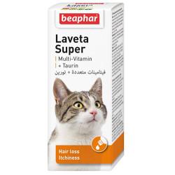 Beaphar - Beaphar 011431 Laveta Süper Kedi Taurin Tüy Dökülme Önleyici Besin Takviyesi 50 ML
