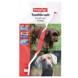 Beaphar - Beaphar 015315 Toothbrush Çift Taraflı Köpek Diş Fırçası