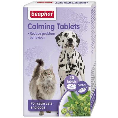 Beaphar 017110 Calming Tablets Sakinleştirici Kedi ve Köpek Tableti-(20 Tablet)