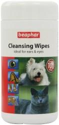 Beaphar - Beaphar 017710 Cleansing Wipes Evcil Hayvan Temizlik Mendili (100 Yaprak)