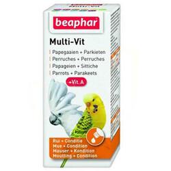 Beaphar - Beaphar Multi - Vit Papağan ve Muhabbet Kuşlar İçin Vitamini 20 ML