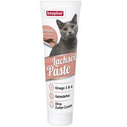Beaphar - Beaphar Salmon Oil Paste Somon Yağı Tahılsız Kedi Macunu 100 Gr