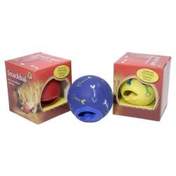 Beeztees - Beeztees 440430 Snack Ball Kılçık Desenli Kedi Ödül Topu 7,5 Cm