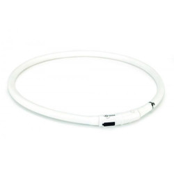 Beeztees - Beeztees 749854 Beyaz Silikon Renkli Işık Led Köpek Tasması 70 Cm