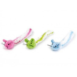Beeztees - Beeztees 440500 Fluffel Renkli Peluş Kedi Oyuncağı 18 Cm