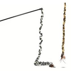 Beeztees - Beeztees 430282 Safari Peluş Tüylü Renkli Kedi Oltası L 70 Cm