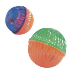 Beeztees - Beeztees 425049 Sert Plastik Boncuklu Kedi Oyun Topu 4x4 Cm (2li Paket)