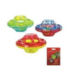 Beeztees - Beeztees 430340 Sert Plastik Sesli 3lü Renkli Kedi Oyuncağı