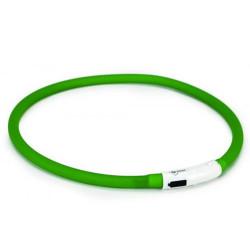 Beeztees - Beeztees 749856 Yeşil Silikon Renkli Işık Led Köpek Tasması 70 Cm
