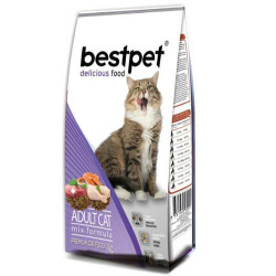 Bestpet - Bestpet Delicious Mix Chicken Tavuk Etli Renkli Kedi Maması 15 Kg