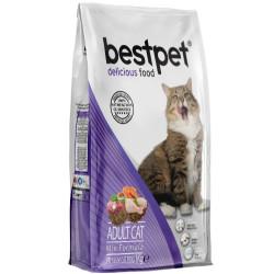 Bestpet - Bestpet Delicious Mix Chicken Tavuk Kuzu Balıklı Renkli Kedi Maması 400 Gr