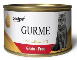 Bestpet - Bestpet Gold Gurme Beef Tahılsız Sığır Etli Kedi Konservesi 100 Gr