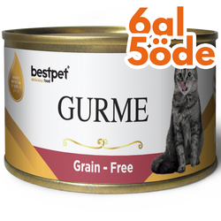 Bestpet - Bestpet Gold Gurme Lamb Tahılsız Kuzu Etli Kedi Konservesi 100 Gr - 6 Al 5 Öde