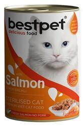 Bestpet - Bestpet Gravy Sterilised Parça Somonlu Kısır Kedi Konservesi 400 Gr
