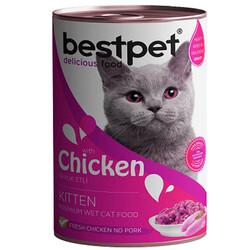 Bestpet - Bestpet Kitten Tavuk Etli Parça Etli ve Jöleli Yavru Kedi Konservesi 400 Gr