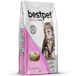 Bestpet - Bestpet Kitten Tavuk Etli ve Pirinçli Yavru Kedi Maması 1 Kg