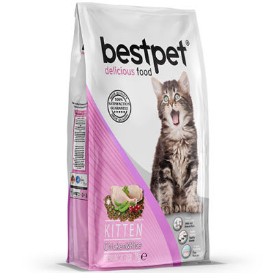 Bestpet Kitten Tavuk Etli ve Pirinçli Yavru Kedi Maması 1 Kg