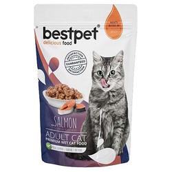 Bestpet - Bestpet Pouch Jelly Somon Balıklı Kedi Yaş Maması 85 Gr