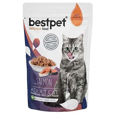 Bestpet Pouch Jelly Somon Balıklı Kedi Yaş Maması 85 Gr