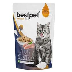 Bestpet - Bestpet Pouch Jelly Tavuk Etli Kedi Yaş Maması 85 Gr