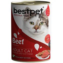 Bestpet - Bestpet Sığır Etli Parça ve Jöleli Kedi Konservesi 400 Gr