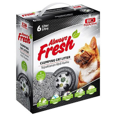 Bio Pet Active Always Fresh Active Carbon Topaklanan Kedi Kumu 6 Lt