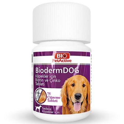 Bio Pet Active BioDerm Biotin ve Çinko Köpek Tableti 37,5 Gr (75 Tablet)