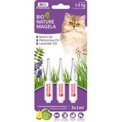 Bio Pet Active - Bio Pet Active Cat 1-5 Kg Deri ve Tüy Sağlığı Kedi Çözelti 3x1 ML