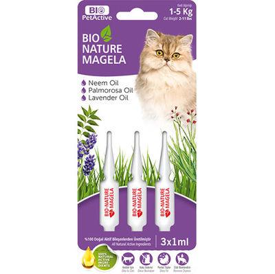 Bio Pet Active Cat 1 - 5 Kg Deri ve Tüy Sağlığı Kedi Çözelti 3 x 1 ML