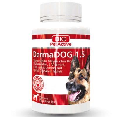 Bio Pet Active Dermadog 1,5 Çinko Sarımsaklı Mayası Tableti 150 Gr (100 Tablet)