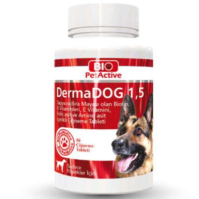Bio Pet Active Dermadog 1,5 Çinko Sarımsaklı Mayası Tableti 75 Gr - (50 Tablet)