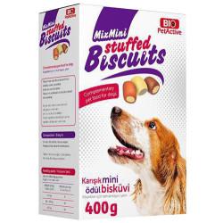 Bio Pet Active - Bio Pet Active Mix Mini Biscuits Karışık Mini Ödül Bisküvisi 400 Gr