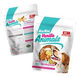 Bio Pet Active - Bio Pet Active Vanilla Animals Karışık Mini Ödül Bisküvisi 200 Gr