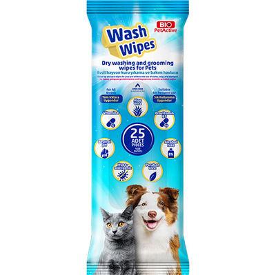 Bio Pet Active Wash Wipes Kuru Yıkama Bakım Havlusu (25 Adet)
