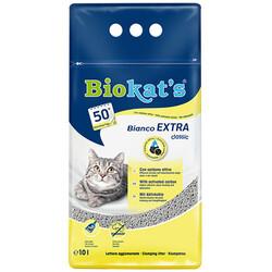 Biokats - Biokats Bianco Extra Antibacterial Topaklaşan Kedi Kumu 10 Kg